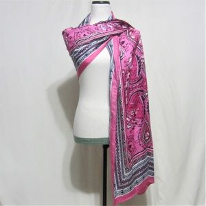 The Limited, Pink Abstract large Scarf/Wrap